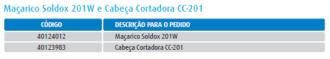 Imagem de Soldox 201W e Cabeça Cortadora CC-201
